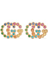 Gucci - 18-karat Gold Multi-stone Earrings - Lyst