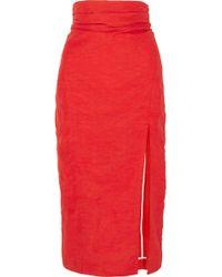 Carmen March - Taffeta Midi Skirt - Lyst