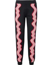 House of Holland - Appliquéd Cotton-terry Track Pants - Lyst