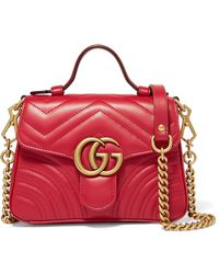 Gucci - Marmont Mini Quilted Leather Shoulder Bag - Lyst