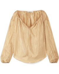 Mes Demoiselles | Sunny Striped Silk Blouse | Lyst