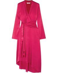 Equipment - Adisa Asymmetric Wrap-effect Satin Dress - Lyst