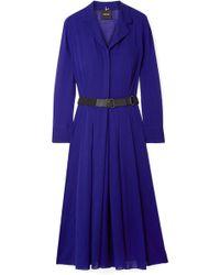 Akris - Belted Wool-voile Midi Dress - Lyst