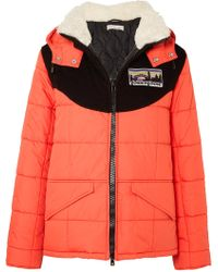 Golden Goose Deluxe Brand - Agena Faux Shearling-trimmed Quilted Shell Jacket - Lyst