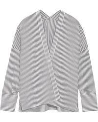 Nili Lotan - Sabine Striped Cotton-poplin Shirt - Lyst