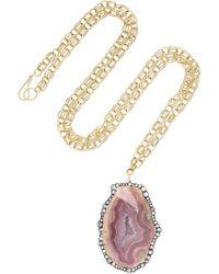 Kimberly Mcdonald - 18-karat Gold, Agate And Diamond Necklace - Lyst