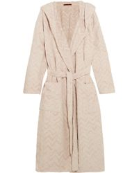 Missoni - Rex Hooded Cotton-terry Robe - Lyst