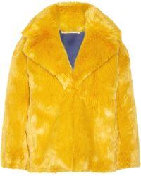 Diane von Furstenberg - Faux Fur Coat - Lyst
