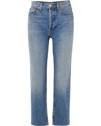 RE/DONE - Originals High-rise Stove Pipe Straight-leg Jeans - Lyst