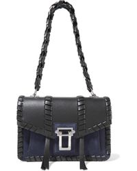 Proenza Schouler - Hava Whipstitched Leather And Suede Shoulder Bag - Lyst