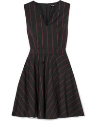 Versus - Striped Wool Mini Dress - Lyst