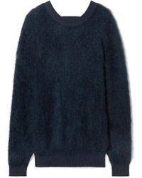 Mugler - Cutout Brushed Knitted Jumper - Lyst