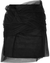 Y. Project - Twisted Tulle And Satin Mini Skirt - Lyst
