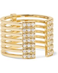 Melissa Kaye - Izzy 18-karat Gold Diamond Ring Gold 6 - Lyst