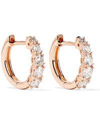 Anita Ko - Huggies 18-karat Rose Gold Diamond Earrings - Lyst