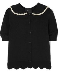 Simone Rocha - Embellished Pointelle-knit Cardigan - Lyst