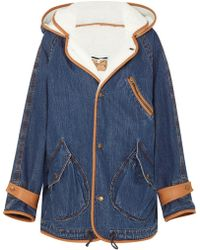 McQ - Denim And Faux-shearling Jacket - Lyst