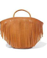 Trademark - Large Fringed Leather Tote - Lyst
