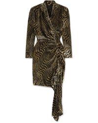 Dodo Bar Or - Ava Wrap-effect Asymmetric Metallic Velvet-jacquard Dress - Lyst