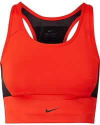 Nike - Pocket Mesh-paneled Dri-fit Stretch Sports Bra - Lyst