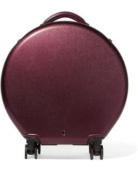 OOKONN - Leather-trimmed Hardshell Suitcase - Lyst