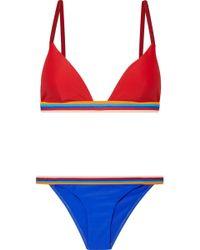 RYE SWIM - Cripsy Striped Triangle Bikini - Lyst