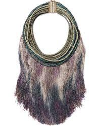 Rosantica - Havana Tasseled Beaded Necklace - Lyst