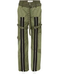 Marques'Almeida - Zip-detailed Shell And Poplin Pants - Lyst