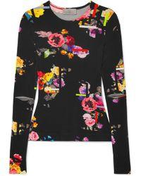 Preen By Thornton Bregazzi - Aidan Floral-print Stretch-jersey Top - Lyst