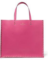 Valentino - Pink Garavani Rockstud Regular Tote - Lyst