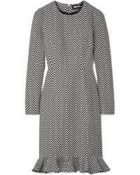 House of Holland | Cotton-blend Jacquard Mini Dress | Lyst