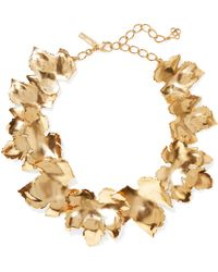 Oscar de la Renta - Grape Leaf Gold-tone Necklace - Lyst