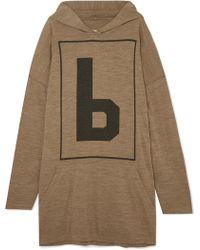 9c936087f8 MM6 by Maison Martin Margiela - Oversized Wool-blend Jersey Hoodie - Lyst