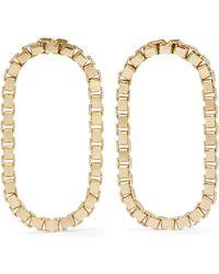 Saskia Diez - Loop Gold-plated Earrings - Lyst