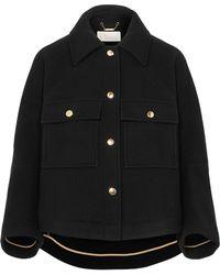Chloé - Cropped Wool-blend Jacket - Lyst