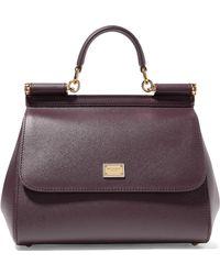 Dolce & Gabbana - Sicily Medium Textured-leather Tote - Lyst