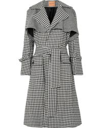 Maggie Marilyn - Be Strong And Courageous Gingham Cotton And Herringbone Wool Trench Coat - Lyst