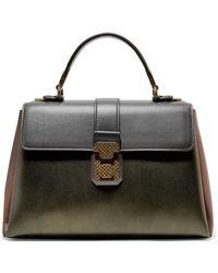 Bottega Veneta - Piazza Medium Color-block Metallic Leather Tote - Lyst