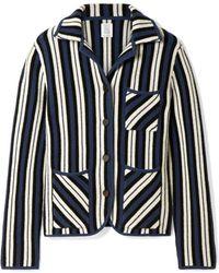 Rosie Assoulin - Striped Waffle-knit Cashmere Blazer - Lyst