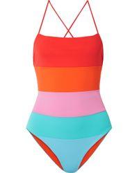 Mara Hoffman - Olympia Color-block Swimsuit - Lyst