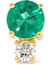 Jemma Wynne - 18-karat Gold, Emerald And Diamond Earring - Lyst