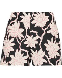 Valentino | Printed Wool And Silk-blend Shorts | Lyst