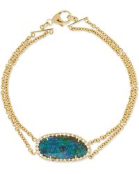 Kimberly Mcdonald - 18-karat Gold, Diamond And Opal Bracelet - Lyst