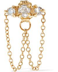 Catbird - Sleeping Beauty Gold Diamond Earring - Lyst