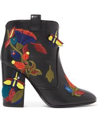 Laurence Dacade - Pete Embroidered Leather Ankle Boots - Lyst