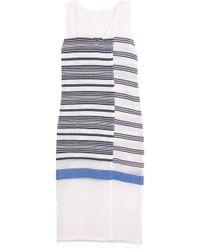 lemlem - Aziza Striped Cotton-blend Gauze Midi Dress - Lyst