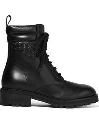 Bottega Veneta - Fur-lined Lace-up Ankle Boots - Lyst
