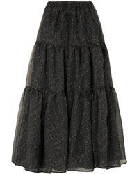 Rejina Pyo - Eva Tiered Embroidered Organza Maxi Skirt - Lyst