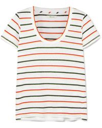 Madewell - Striped Linen-blend T-shirt - Lyst