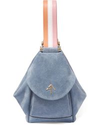 MANU Atelier - Fernweh Micro Leather-trimmed Suede Wristlet Bag - Lyst
